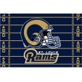 "St. Louis Rams NFL 39"" x 59"" Tufted Rug"