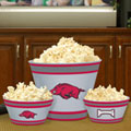 Arkansas Razorbacks NCAA College Melamine 3 Bowl Serving Set