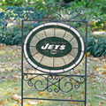 New York Jets NFL Stained Glass Outdoor Yard Sign