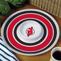 "New Jersey Devils NHL 14"" Round Melamine Chip and Dip Bowl"