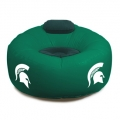Michigan State Spartans NCAA College Vinyl Inflatable Chair w/ faux suede cushions