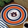 "Auburn Tigers NCAA College 14"" Round Melamine Chip and Dip Bowl"