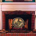 New Orleans Saints NFL Stained Glass Fireplace Screen