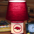 Arkansas Razorbacks NCAA College Accent Table Lamp