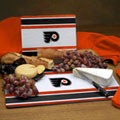 Philadelphia Flyers NHL Glass Cutting Board Set