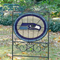 Seattle Seahawks NFL Stained Glass Outdoor Yard Sign