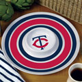 "Minnesota Twins MLB 14"" Round Melamine Chip and Dip Bowl"