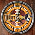 "Tennessee Vols NCAA College 12"" Chrome Wall Clock"
