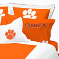 Clemson Tigers Standard Pillow Sham - Orange
