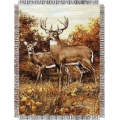 "Hautman Bros. Royal Pair 48"" x 60"" Metallic Tapestry Throw"