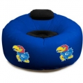 Kansas Jayhawks NCAA College Vinyl Inflatable Chair w/ faux suede cushions