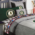 Oakland Athletics MLB Authentic Team Jersey Bedding Queen Size Comforter / Sheet Set
