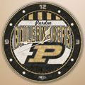 "Purdue Boilermakers NCAA College 12"" Round Art Glass Wall Clock"