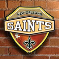 New Orleans Saints NFL Neon Shield Wall Lamp