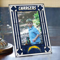 "San Diego Chargers NFL 9"" x 6.5"" Vertical Art-Glass Frame"