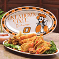 "Oklahoma State Cowboys NCAA College 12"" Ceramic Oval Platter"