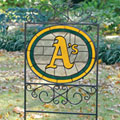 Oakland Athletics MLB Stained Glass Outdoor Yard Sign