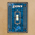 Detroit Lions NFL Art Glass Single Light Switch Plate Cover