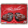 "Tony Stewart #14 NASCAR ""Flash"" 48"" x 60"" Metallic Tapestry Throw"