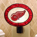 Detroit Redwings NHL Art Glass Nightlight