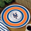 "New York Mets MLB 14"" Round Melamine Chip and Dip Bowl"
