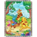 "Winnie The Pooh Sweet Summer Day 48"" x 60"" Metallic Tapestry Throw"