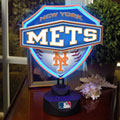 New York Mets MLB Neon Shield Table Lamp