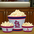 St. Louis Cardinals MLB Melamine 3 Bowl Serving Set
