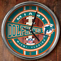 "Miami Dolphins NFL 12"" Chrome Wall Clock"