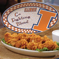 "Illinois Illini NCAA College 12"" Gameday Ceramic Oval Platter"