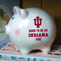 Indiana Hoosiers NCAA College Ceramic Piggy Bank