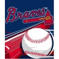 "Atlanta Braves MLB ""Big Stick"" 50"" x 60"" Super Plush Throw"