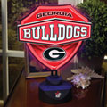 Georgia UGA Bulldogs NCAA College Neon Shield Table Lamp
