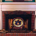 Auburn Tigers NCAA College Stained Glass Fireplace Screen