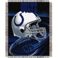 "Indianapolis Colts NFL ""Spiral"" 48"" x 60"" Triple Woven Jacquard Throw"