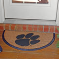 Clemson Tigers NCAA College Half Moon Outdoor Door Mat