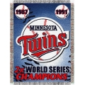 "Minnesota Twins MLB ""Commemorative"" 48"" x 60"" Tapestry Throw"