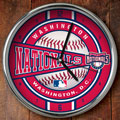 "Washington Nationals MLB 12"" Chrome Wall Clock"