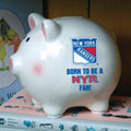 New York Rangers NHL Ceramic Piggy Bank