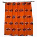 Oklahoma State Cowboys 100% Cotton Sateen Shower Curtain - Orange