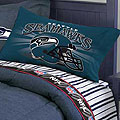 Seattle Seahawks Queen Size Pinstripe Sheet Set
