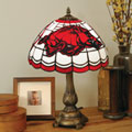 Arkansas Razorbacks NCAA College Stained Glass Tiffany Table Lamp