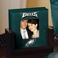 Philadelphia Eagles NFL Art Glass Photo Frame Coaster Set