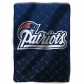 "New England Patriots NFL ""Diamond Plate"" 60' x 80"" Raschel Throw"