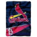 "St. Louis Cardinals MLB ""Speed"" 60"" x 80"" Super Plush Throw"