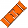 "Illinois Fighting Illini NCAA College 19"" x 54"" Body Pillow"