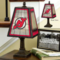 New Jersey Devils NHL Art Glass Table Lamp