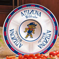 "Arizona Wildcats NCAA College 14"" Ceramic Chip and Dip Tray"