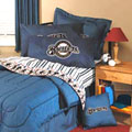 Milwaukee Brewers Queen Size Team Denim Comforter / Sheet Set