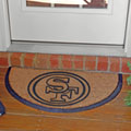 San Francisco 49ers NFL Half Moon Outdoor Door Mat